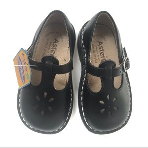 Aster Leather Mary Jane Shoes Black 5